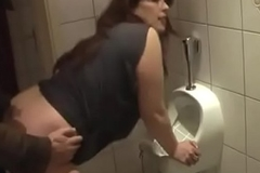 German Milf get well-disposed Fuck newcomer disabuse of Youthful Guy on the toilet