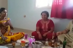 Village Aunties enjoying pack with wine than shagging with will not see the light husbands... HD