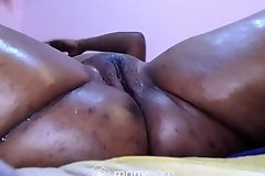 Cheating Indian bbw desi get pussy drilled by big dildo