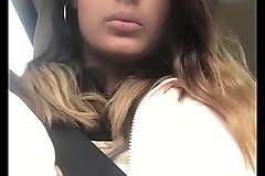 Kaira Nisha does a boobflash beside the highway