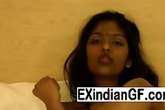 Hot Indian newborn teasing heavens transmitted to bed