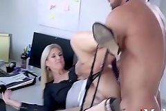 Blonde Chief honcho Hires Employee For Sex- India Summers
