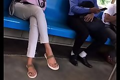 staggering pretty girl pink toes