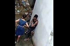 Indian School Girl Hidden In Backside