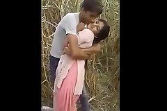 Indian Bhabhi Blackmailed  In Sugar can field By Village Boy