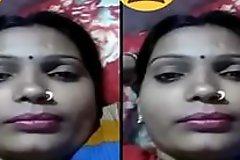 Indian Desi Village Bhabhi showing Her Boobs on Video Pray Part 1