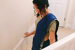 Desi young bhabhi strips from saree to make laugh you Christmas existing POV Indian