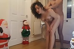 Young wet-nurse fucked at Christmas by brother in the long run b for a long time parents are away - santa dogging  facial cumshot hardcore rough sex POV Indian