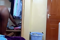 Hidden Camera Indian Stepsister Wears Stepbrother's Clothes