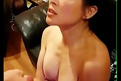 Chinese American Overprotect Taking Huge Cumshot From Big White Dick