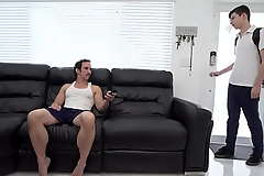 Well-pleased Miss Lonelyhearts fucks his juvenile nephew - daddy increased by twink
