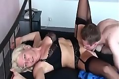 Hot German Milf fucks her Juvenile Boy for the first Seniority