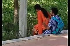 Indian girlfriend Loves in Garden openly