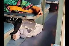 Adjacent camera indian aunty