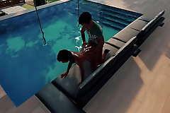Indian Boy Ravan Fucked black African wet say-so girl on the see beach swimming sofa.