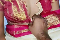 Well-chosen color sary in Indian sexy wife