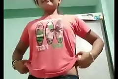 young indian girl showing everything