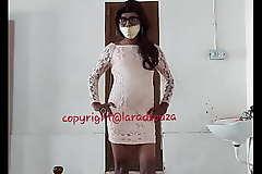 Indian sexy crossdresser Lara D'Souza in backless dress part 2