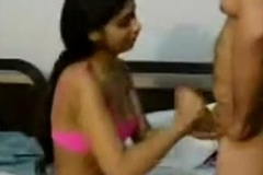 Cute Indian Girl Giving A Nice Blowjob