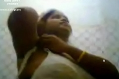 VID-20120203-PV0001-Srivilliputtur (IT) Tamil 30 yrs old unmarried hot and sexy girl Ms. Vidhyavathi undressing her cultural saree in her home after attending a marriage function and she recording it in her mobile phone copulation porn video