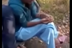 Telugu girl together with boy kissing with respect to Forest
