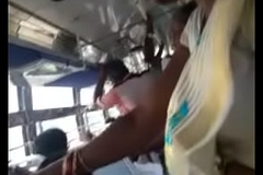 Girl showing her navel apropos bus part 1