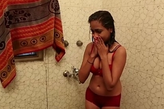 Sexy Bathroom Scene - Lal Chhadi In Bathroom