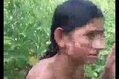 Desi village lady displays pussy and fucks