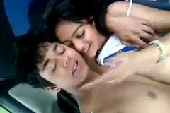 sexy desi Indian teen undisguised in car