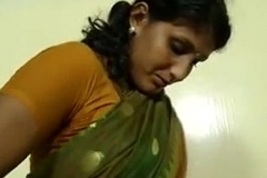 An indian mallu hot neighbor bhabhi teaching how to wear saree