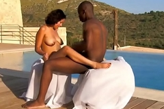 African Ebony One's own flesh Fuck Outdoors