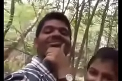 Cute Indian lover having sex at park