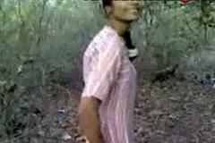 Indian amateur desi sex alongside public forest
