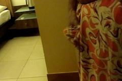 Wear and Cum regarding Satin silk saree of neighbor 3