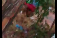 Indian maid aunty peeing outdoor-1