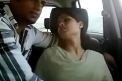 Indian prepare oneself gets naughty in car