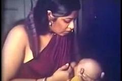 Desi bhabhi milk feeding prepare oneself instalment scene