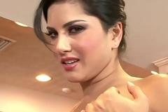 WANKZ- Sunny Leone Gets Unshod And Masturbates