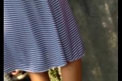 Desi cute virgin teen hips added to thong strip