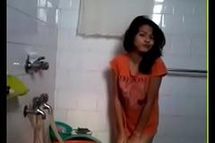 Desi Hot Girl Unvarnished in Bathroom similar to Bf