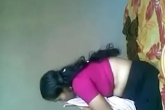 Mom fuck in pink saree and blouse