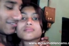 Bangla indian chick in brassiere giving a kiss bigtits in nature's garb