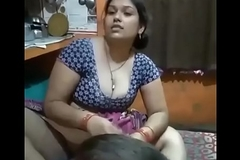 Desi Bhabhi legs wide forthright in front of her Son!!