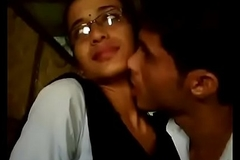 College boy &_ girl lipkiss in dhaba