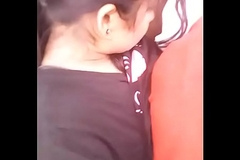 indian gf and bf boobs pressing in jungle