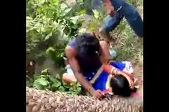 Desi Indian Gang Bang in Jungle