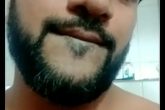 Indian hawt beard stroke show