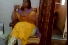 indian punjabi aunty akin to boobs to youthful lover