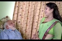 Indian Girl enjoying with old man