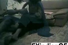 Amateur Indian couple fucking on the living room floor